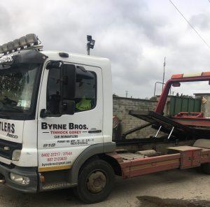 Lorry in yard
